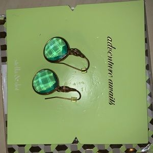 Stella & Dot Aqua Dangle Earrings